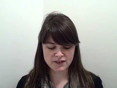 Alex Keelan reading a poem she has written about International Women's Day