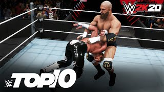 Calamitous Catch Finishers: WWE 2K20 Top 10
