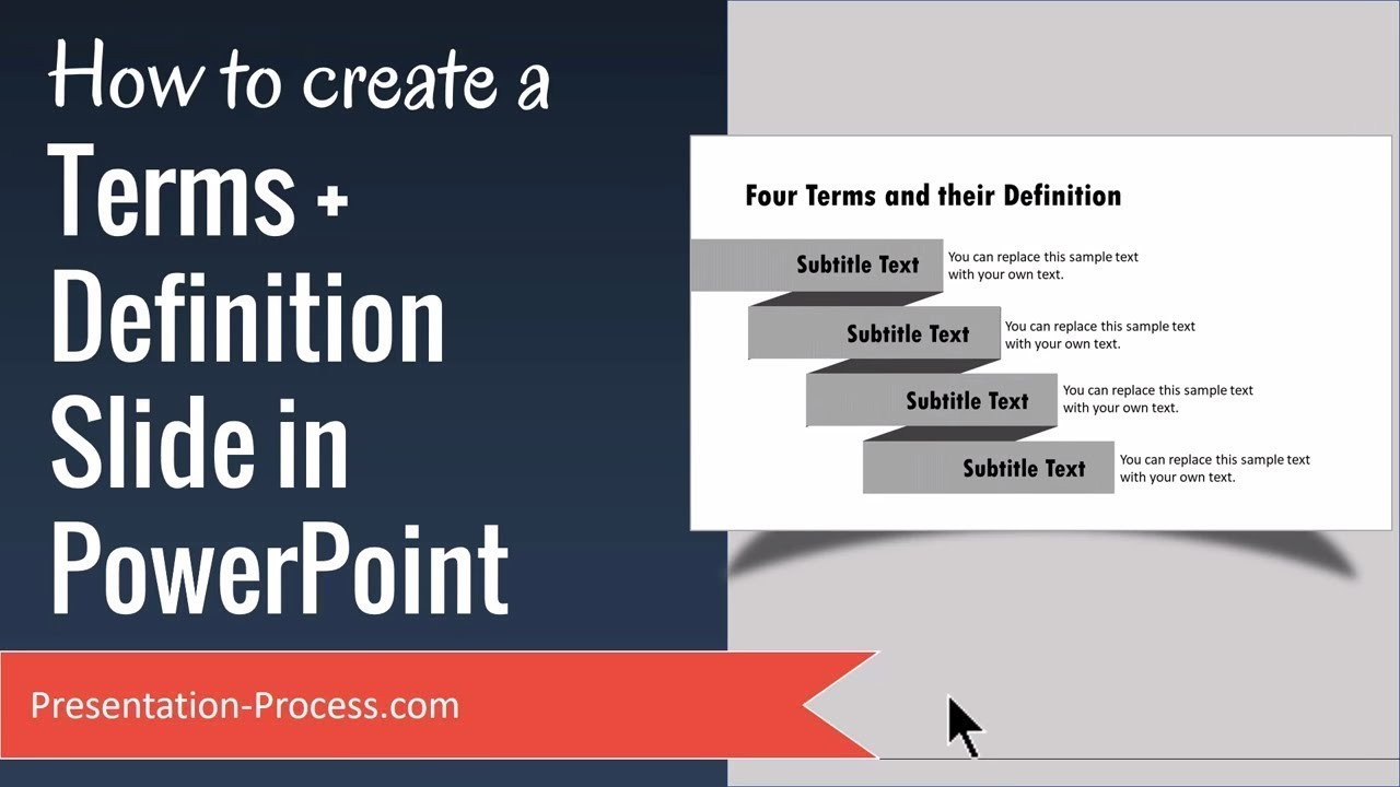 how to create terms  u0026 definition slide in powerpoint
