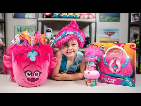 Thumbnail: HUGE Trolls Movie Poppy Surprise Bucket Blind Bags Surprise Eggs Toys for Girls Kinder Playtime