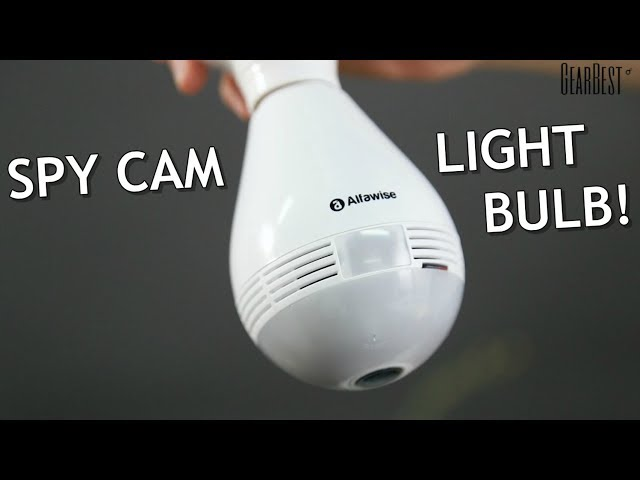 Alfawise Motion Detection 1.3MP 360° Panoramic Wireless WiFi LED Bulb IP Camera