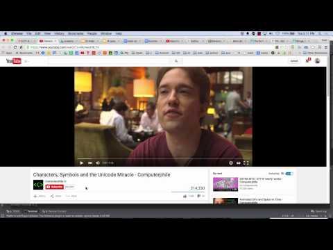 Week 05 Video 04 - UTF-8