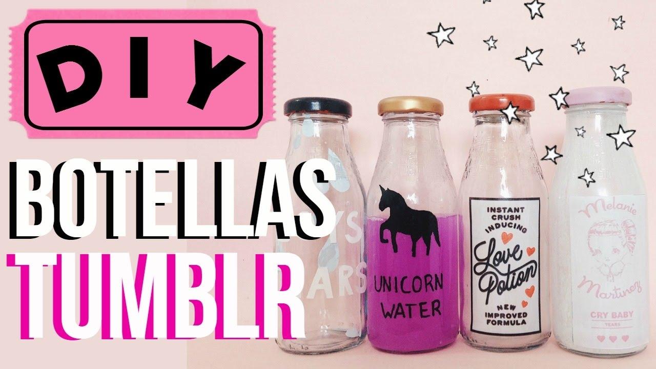 Diy decora tu cuarto con estas botellas tumblr youtube for Ideas para decorar tu habitacion con fotos