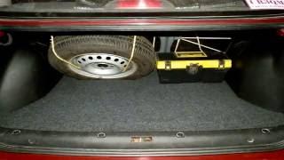 Ровный пол в багажник Ланос после установки ГБО.