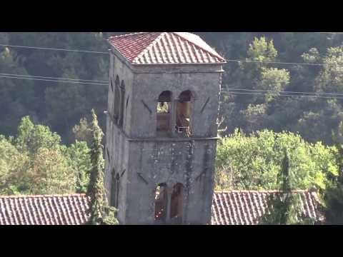 Church bells ringing in Boveglio, Italy