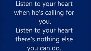 Repeat youtube video Roxette - Listen to Your Heart - Lyrics