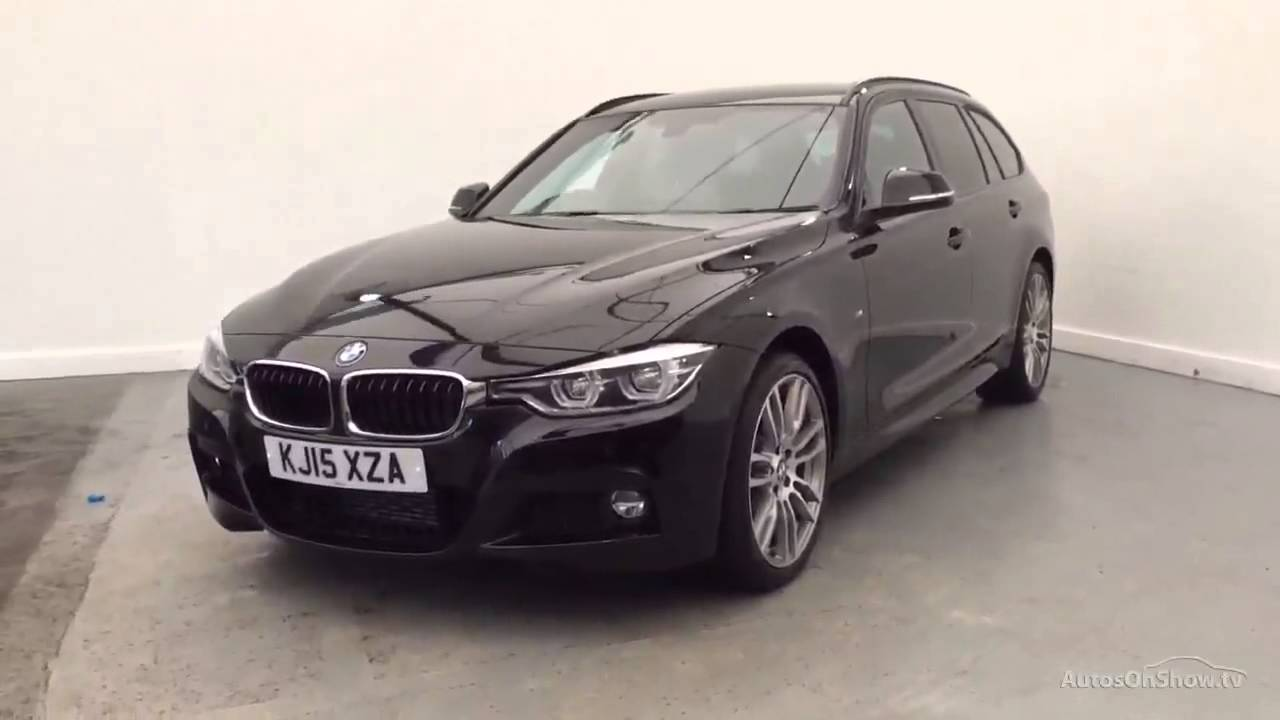 bmw 3 series 320d xdrive m sport touring black 2015 youtube. Black Bedroom Furniture Sets. Home Design Ideas