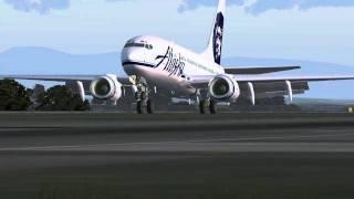 FS2004 PMDG 737 Alaska @  KSEA