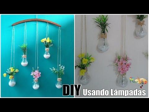 FAÇA VOCÊ MESMO | Pendente De Flores Usando Lampadas