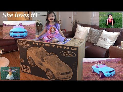 Disney Frozen Ford Mustang Ride-On Power Wheels Unboxing & Assembling 2 Of 2