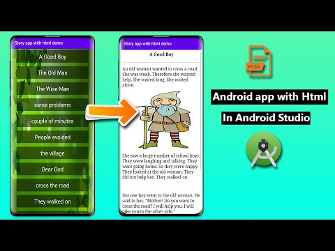 Story App With Html File | Android App With Html | Html In Android Studio