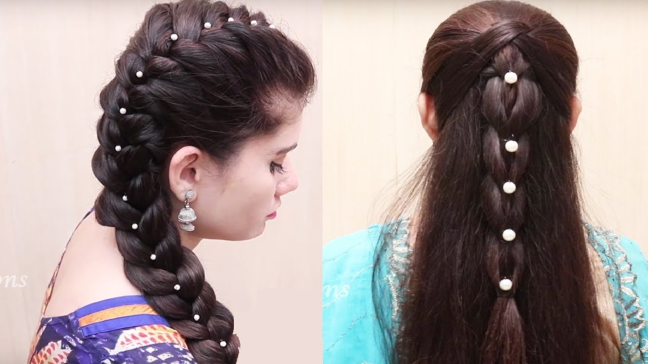 2 Easy Hair Style For Style Long Hair Ladies Hair Style Tutorial Videos 2017 Youtube