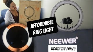 MY LIGHTING EQUIPMENT FOR CRISP CLEAR YOUTUBE VIDEOS (DAY & NIGHT) | NEEWER RINGLIGHT UNBOXING