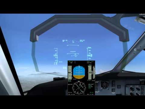 Majestic DHC-8 Q400 Pro KLAX-KPSP Hand-flown RNP 13R 4K