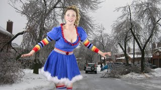 Weather Girl Rainbow Brite's Ice Storm Report Fail