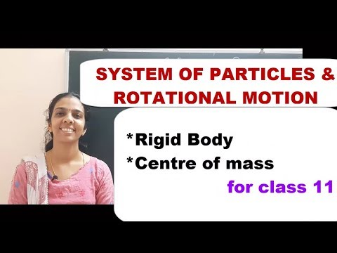 Class 11 SYSTEM OF PARTICLES AND ROTATIONAL MOTION PART 1