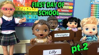 BABY ALIVE goes to SCHOOL pt. 2. The Lilly and Mommy Show! The TOYTASTIC Sisters. FUNNY SKIT!