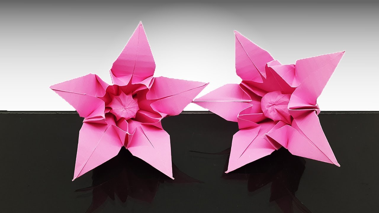 Origami Lily instruction - need to find pretty papers. | Origami ... | 720x1280