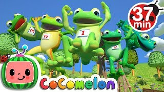 Five Little Speckled Frogs | +More Nursery Rhymes - Cocomelon (ABCkidTV)