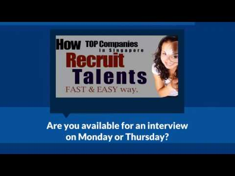 Top Recruitment Agency in Singapore - Job, Career, Hire, Employment, Interview