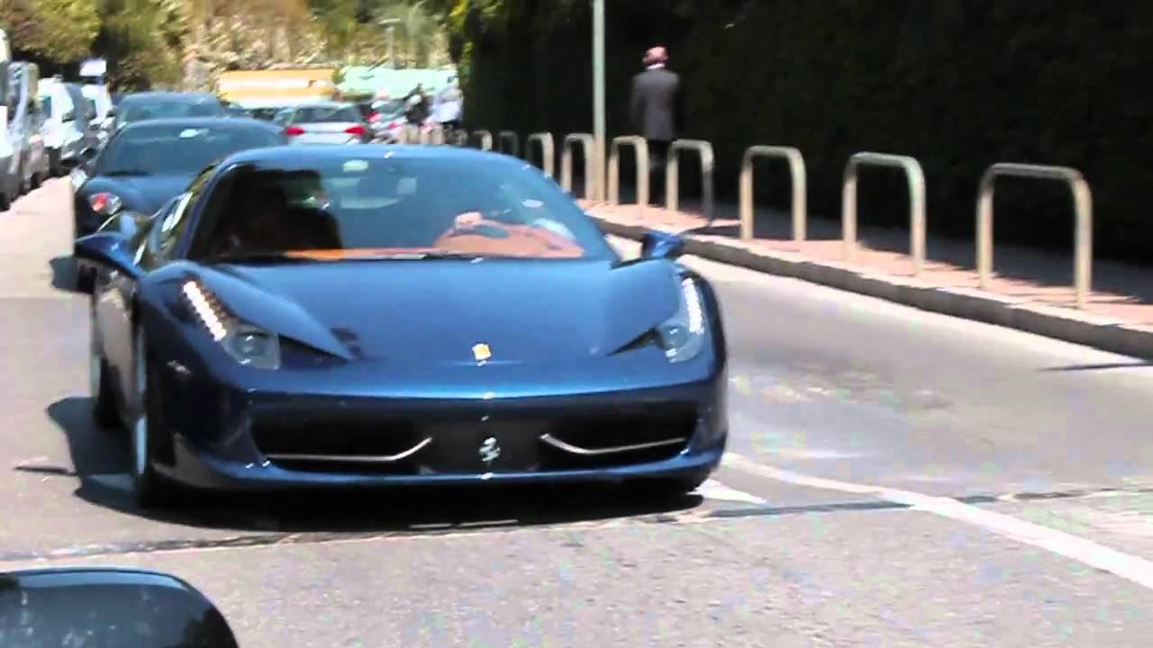 loud sound blue ferrari 458 italia in monaco youtube - Ferrari 458 Italia Blue