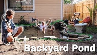 WE MADE THE POND EVEN BIGGER! Part 5 & 6