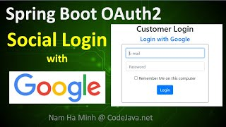 Spring Boot OAuth2 Social Login With Google Example