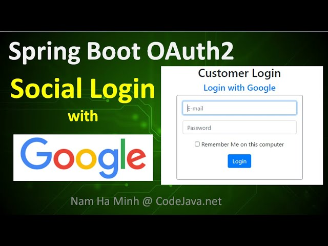 Spring Boot OAuth2 Social Login with