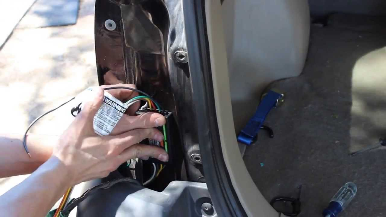 Installing A Curt 56075 Trailer Wiring Kit Youtube Diagram Diy Teardrop