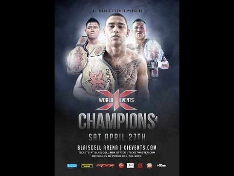 X1 54 The Full Fight of Champions 4 at Blaisdell Arena, Hawaii