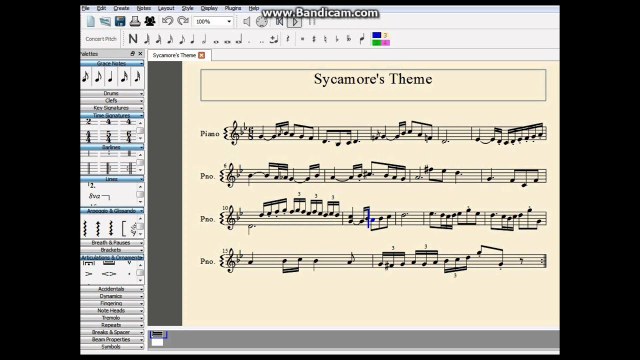 Sycamores Theme Xy On The Piano Youtube