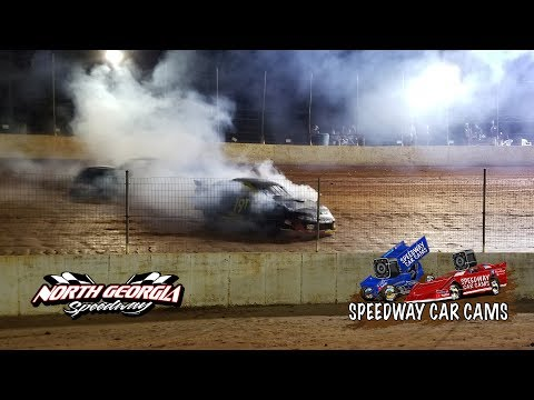 Pony Mini Stock Feature with a Fire on 11-11-17 at North Georgia Speedway