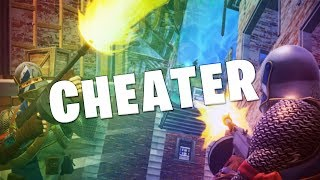 I RAN INTO A CHEATER ON FORTNITE! - Drum Gun ONLY Challenge!
