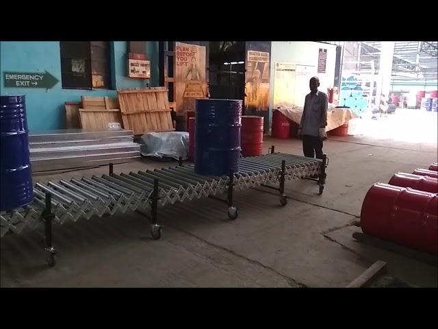 Expandable Flexible Motorized Roller Conveyor | ND-C-EPR Series | Conveyor Automation