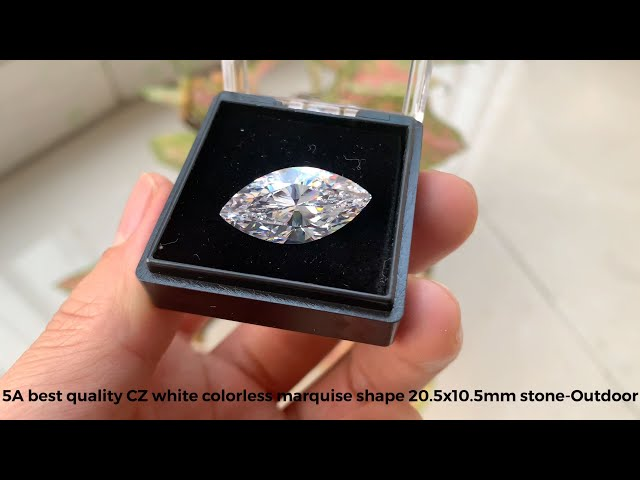 5A best quality loose cubic zirconia white clear marquise faceted cut gemstones