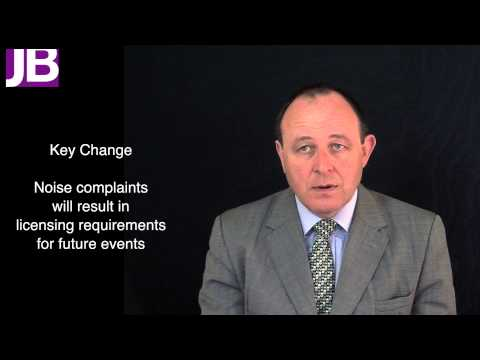 Entertainment Regulation - Changes to the Licensing Act 2003