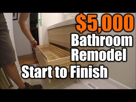 Small Bathroom Remodel Start To Finish | THE HANDYMAN