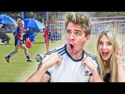 We cant believe this happened during Everleighs first soccer game...