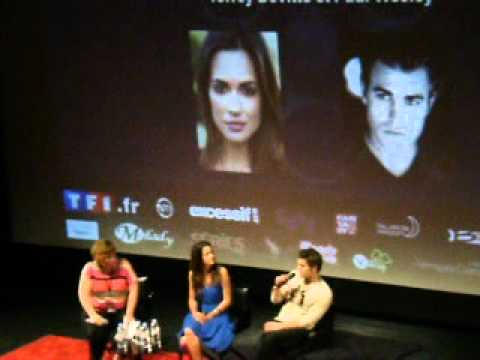 Paul Wesley & Torrey DeVitto Q&A at the Welcome To Mystic Falls 2 in Paris. 26th May.