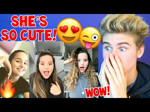REACTING TO ANNIE LEBLANC 2018 *NEW BEST* MUSICAL.LY COMPILATION MUST WATCH (SHE'S SO CUTE!)