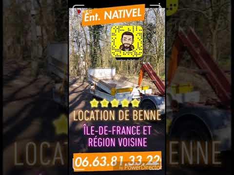location de benne en ile de france  Ent.NATIVEL