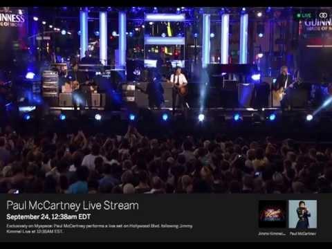Paul McCartney Live Stream 092413