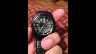 como cambiar la hora anloga del reloj casio aw 80