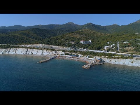 г.Кабардинка 2018г. Пляж Виктория. Съёмка с квадрокоптера.