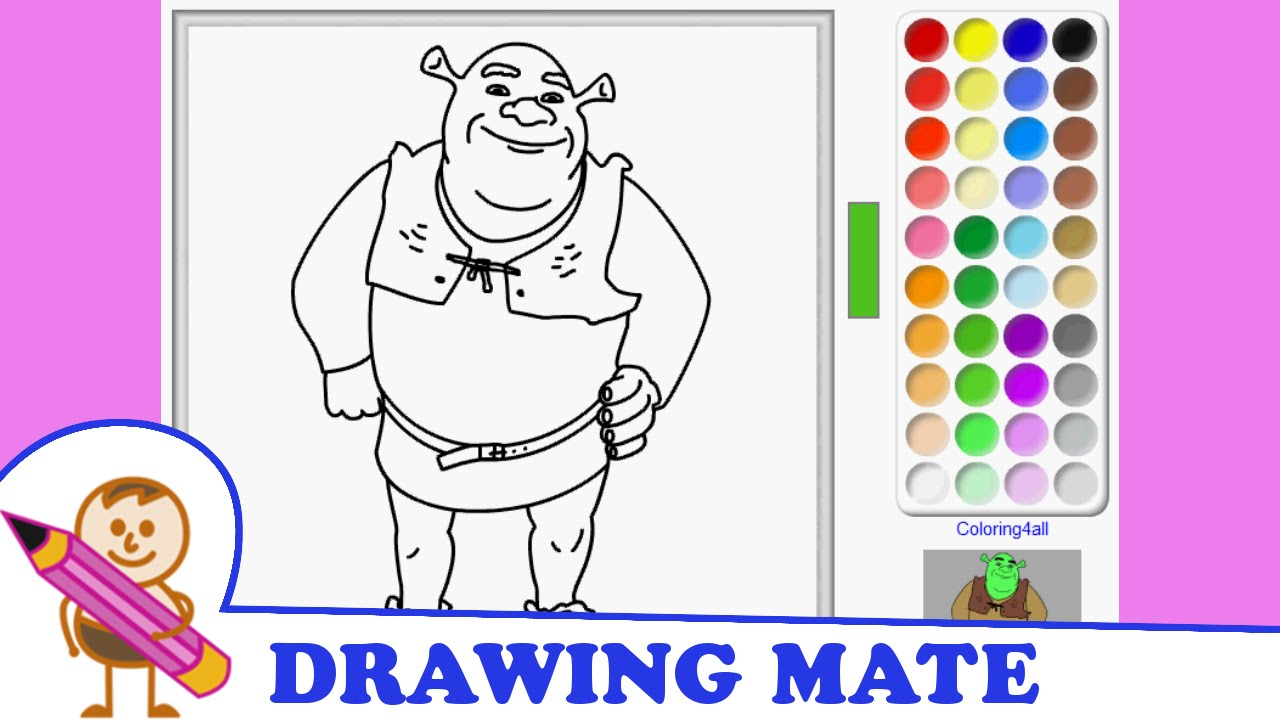 Shrek Colouring Pages Colouring Sheets Kolorowanki Malowanki