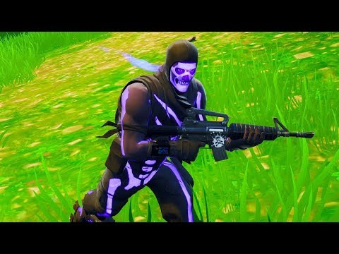 NEW PURPLE SKULL TROOPER GAMEPLAY....*SECRET* (Fortnite Purple Glow Skull Trooper)