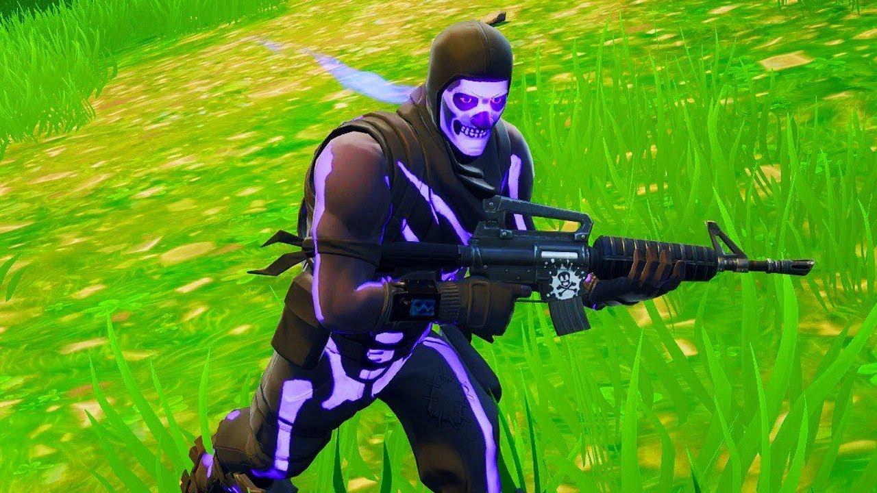 New Purple Skull Trooper Gameplay Secret Fortnite Purple Glow