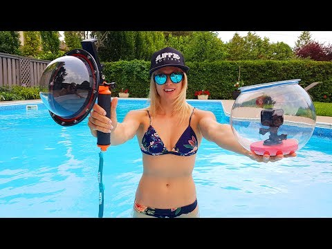 GoPro Underwater DOME PORT Review vs $10 FISH BOWL