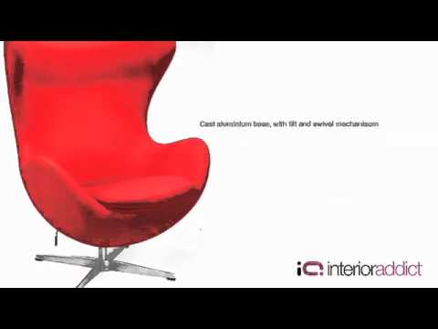 Egg Chair   Reproduction Egg Chair   YouTube