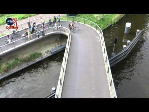 Bridge for walking and cycling in Purmerend (Netherlands)